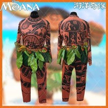 Maui in Movie Moana Cosplay Mens Costume Fancy Sweatshirt Pants Suit Hal... - $45.99