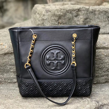 Tory Burch Fleming Leather Tote image 1
