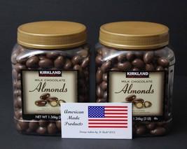 2 jars Kirkland Signature Milk Chocolate Roasted Almonds, 3lbs total of 6lbs - $42.99