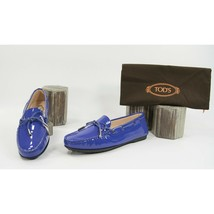 Tod's Gomma Lu Laccetto Purple Patent Leather Moccasins Driver Loafer 39.5 NIB - $321.26