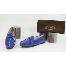 Tod's Gomma Lu Laccetto Purple Patent Leather Moccasins Driver Loafer 39.5 NIB - $321.26