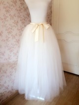 6 Layered IVORY Tulle Skirt Bridal Tulle Skirt Plus Size Wedding Skirt Separate image 3