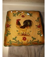 """MEXCERA--HONEY ROOSTER--SQUARE PLATTER---11.5""""--FREE SHIP--VGC - $30.77"""