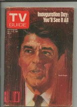 ORIGINAL Vintage January 17, 1981 TV Guide Magazine Ronald Reagan Inaugu... - $14.84