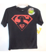 DC Comics Boys Superman Glow in the Dark T-Shirt Size 8 Medium NWT - $9.59