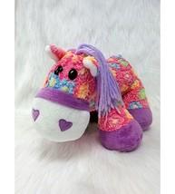 """14"""" Pony Horse Pink Purple Multicolored Flowers Fleece Plush Dan Dee Toy... - $13.19"""