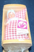 Vintage Haba Germany Doll Cradle and Rubber Baby Doll Sealed Unused - $20.57