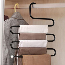 Pants Hanger S Shape Stainless Steel 5 Layers Hangers Jeans Clothes Mult... - $12.10