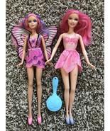 "Lot Mattel Barbie 11.5"" PINK HAIR FAIRY Color Change Doll Mariposa & Pin... - $19.00"