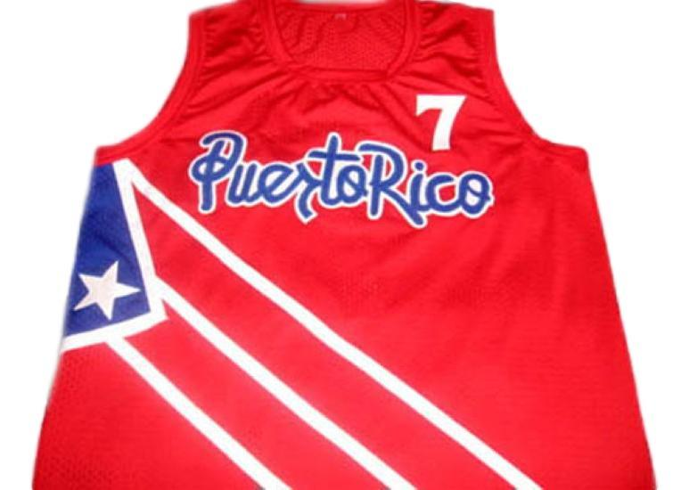 Carlos arroyo  7 puerto rico basketball jersey red 1