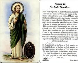 Prayer to St Jude Thaddeus - EB077 - Servant Friend of Jesus Holy Apostl... - $2.79