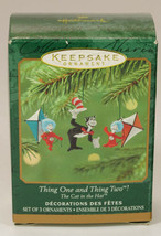 2001 Hallmark Ornament CAT IN THE HAT Thing One & Thing Two New in Box - $14.99