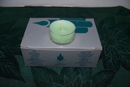 partylite 12 tealight candles honeydew / mint V0452 - $9.89