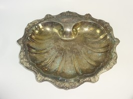 Poole Lonard A Towle Silver Co Clam Shell Footed Pedestal Bowl Plate Tra... - $31.66