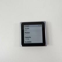 Cracked Glass Apple I Pod Nano 6th Generation 8GB Graphite - Works Perfectly - $31.49