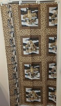 NWOT Fabric Shower Curtain Standard Size Snow Leopard Leopards Free Ship... - $19.79