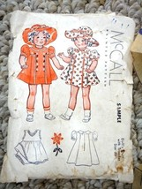 """vintage McCALL 22""""  DOLL CLOTHES PATTERN small envelope DRESS HAT marked... - $34.95"""