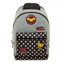 DC Comics Wonder Woman Denim Backpack with Patches - $50.00