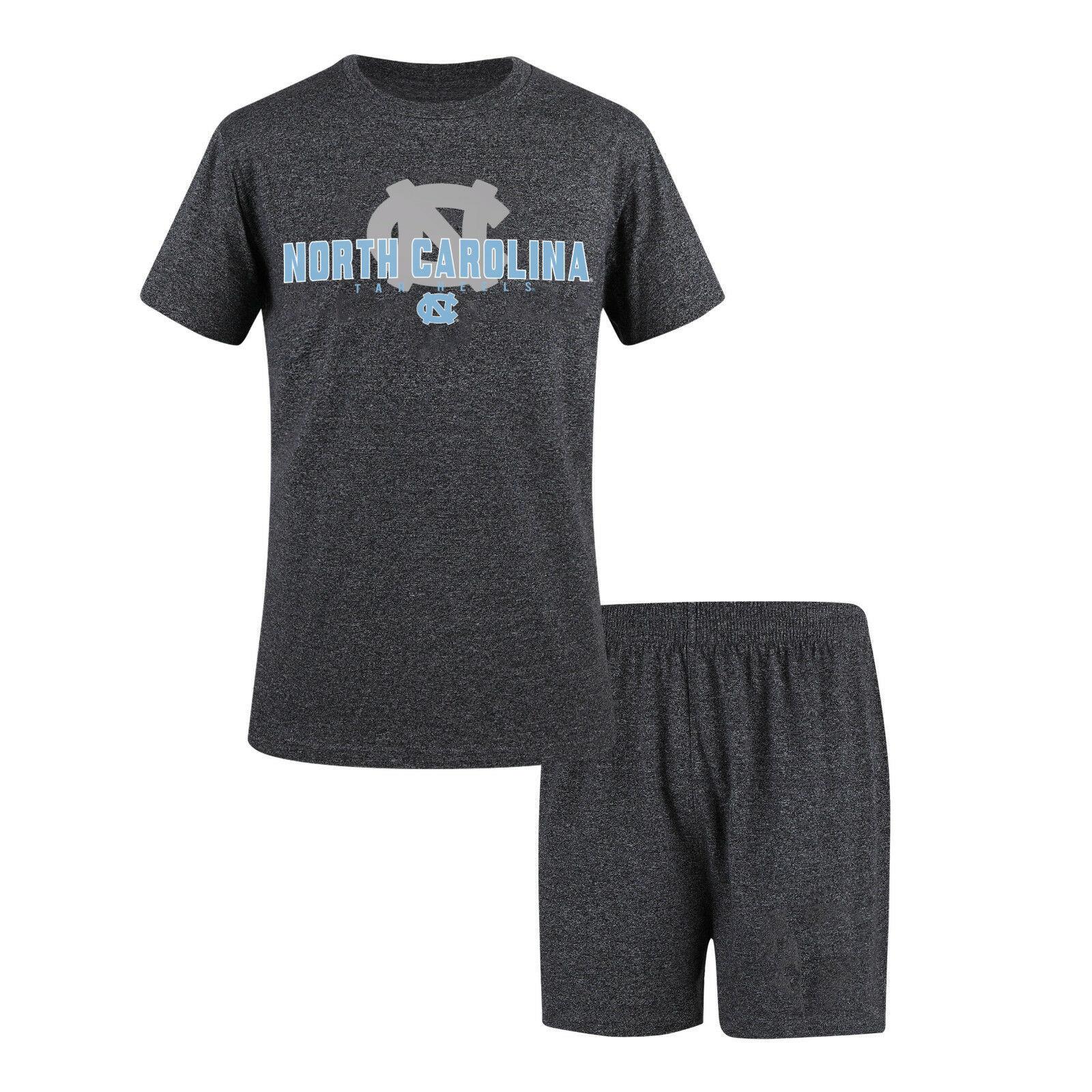 North Carolina UNC Tar Heels Men's Pajamas 2-Piece Sleep Set Shorts Tee Shirt