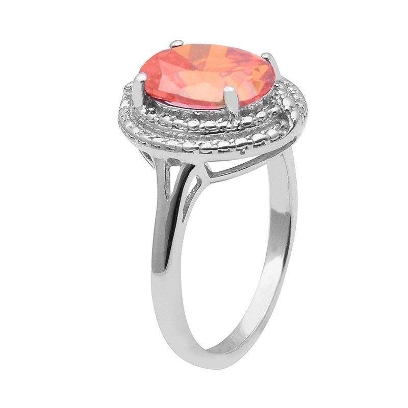 Orange Cubic Zirconia 925 Sterling Silver Ring Shine Jewelry Size-8 SHRI1464