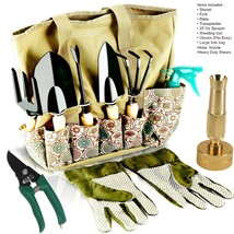 Garden Tools Set - 8 Piece Gardening tools With Storage Organizer, - $48.88+