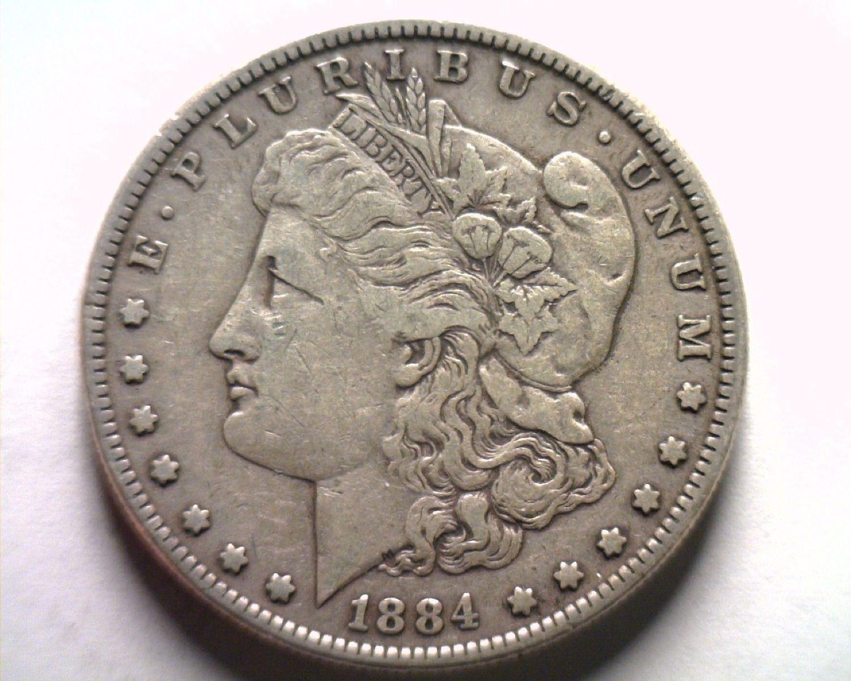1884 MORGAN SILVER DOLLAR EXTRA FINE XF EXTREMELY FINE EF NICE ORIGINAL COIN