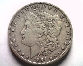 1884 MORGAN SILVER DOLLAR EXTRA FINE XF EXTREMELY FINE EF NICE ORIGINAL ... - $42.00