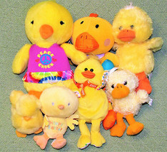 Easter Chick Duck Lot Yellow Plush Stuffed Suzy Spafford Mary Meyer Vtg Gibson + - $32.71