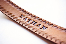 Personalized Leather Bookmark - $10.00
