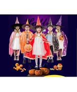 Kids Halloween Costume Witch Cloak Boys Girls Cosplay Party Dress Childr... - $49.99