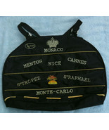 Used Monaco souvenir canvas beach carry bag - $25.00