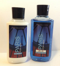 Bath & Body Works Paris For Men Lotion 8oz (236ml) Shower Gel 10oz (295m... - $24.74