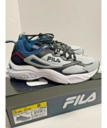 FILA Men's Recollector Trail Sneaker Shoes ~ Grey/Black/Blue Men's Size 8.5 - $39.59