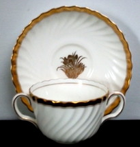MINTON Gold Crocus Flat Boullion Cup and Saucer H4765 - $10.00
