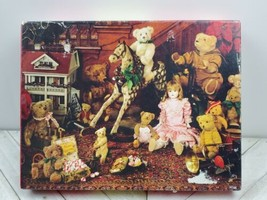 "Springbok Jigsaw Puzzle ""Treasures Of Christmas Past"" 500 Pcs Bears Toys - $8.42"