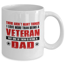 Fathers day gifts for Veteran Dad - 11oz ceramic coffee mug - $13.81