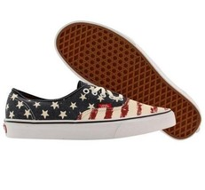 VANS AMERICANA Flag Distressed Stars & Stripes Canvas Shoes Mens 6.5 / W... - $64.99