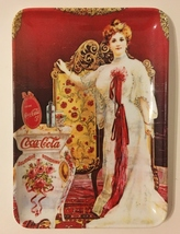 """Coca Cola Tip Tray Victorian Lady Woman Vintage Coke 5 Cents 6""""x4"""" Made in Italy - $25.00"""