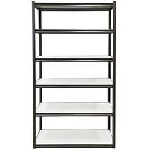 "6-Shelf 48""W x 84""H 18""D Steel Storage Shelving Unit, Silver Vein  - $134.07"