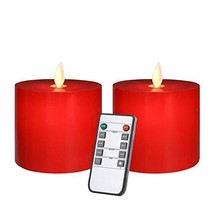 Only-us Flickering LED Flameless Candles Battery Operated with Remote Co... - $18.08