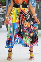 Trendy Ruffle Printed Ankle Length Skirt - $29.72