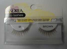 Andrea's Strip Lashes Fashion Eye Lash Style 53 Brown - (Pack of 6) - $21.98