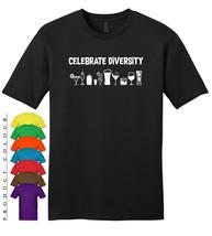 Celebrate Diversity Alcohol Party Mens Gildan T-Shirt New - $19.50