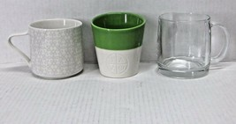 STARBUCKS COFFEE COMPANY MIXED LOT (3) 2012 - 2014 TAO ETCHED CLEAR CUPS... - $60.37