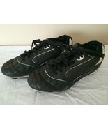 Soccer Cleats Sneakers Shoes Youth Boys Size 6 Black Cross Trekkers Lace Up - $14.99