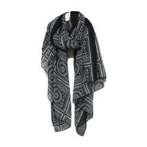 Winter Scarf Thin Vintage Geometric Ethnic Stole Kerchief - $16.47