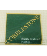 COBBLESTONE RICHLY TEXTURED CREAM COLOR NAPKIN SET OF 6 NEW IN PACKAGE - $29.70