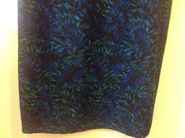 Studio I Black Sleeveless Dress w Blue/Teal Foliage Pattern Sz 18 image 4