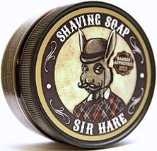 Premium Shaving Soap for Men By Sir Hare - Barbershop Fragrance - Shave Soap Tha image 1