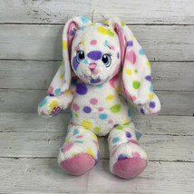 "Build A Bear Spotty Dotty Bunny Rabbit 16"" White Polka Dot  Plush BAB - $15.83"